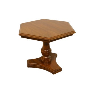 20th Century Traditional Ethan Allen Georgian Hexagonal Accent Table For Sale
