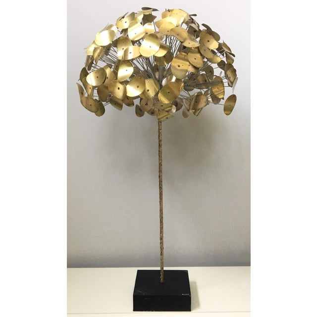 Rare mid-century modern tree sculpture by C. Jere from the Raindrop series. In an exclusive partnership with Jonathan...
