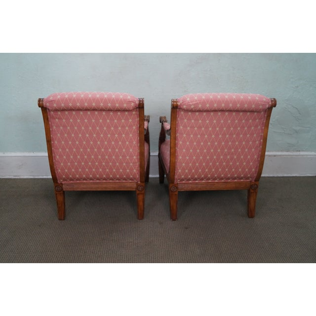 French Empire Regency Arm Chair Fauteuils - Pair - Image 4 of 10