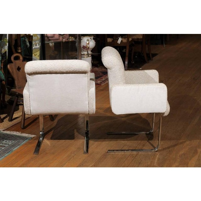 """1960s Pair of """"Lugano"""" Chairs by Mariani for Pace For Sale - Image 5 of 8"""