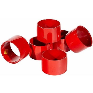 1960s Red Napkin Rings - Set of 6