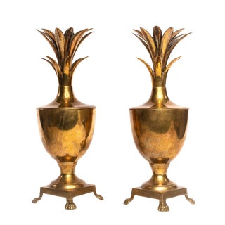 Brass Pineapple Ice Buckets - a Pair For Sale