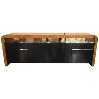 Vladimir Kagan Burl Wood and Lacquered Sideboard or Console With File Cabinets For Sale