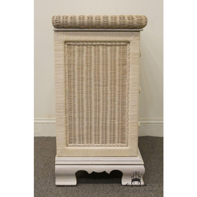 20th Century Country Pennsylvania House White Wicker Nightstand For Sale - Image 10 of 13