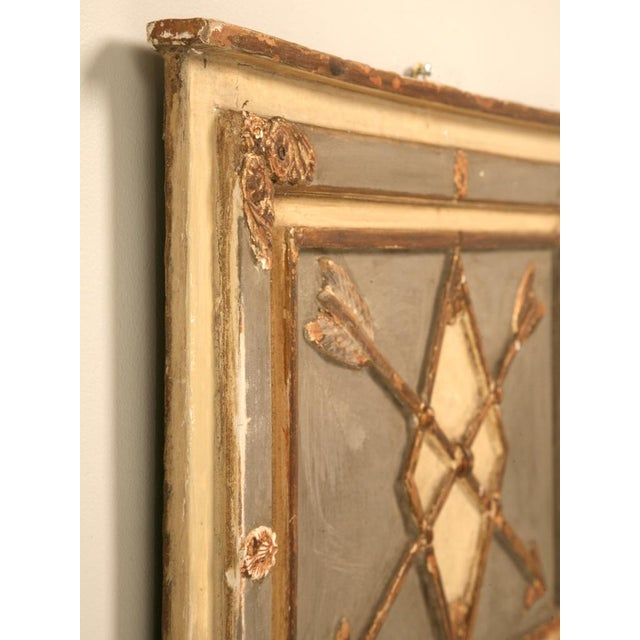 Gold Antique Diamond & Crossed Arrows French Directoire Mirror For Sale - Image 8 of 10