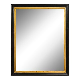 Antique French Rectangular Mirror With Gilded Frame For Sale