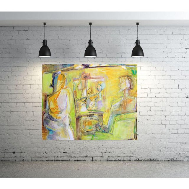 """""""Artist and Model"""" by Trixie Pitts Extra-Large Abstract Oil Painting For Sale In Nashville - Image 6 of 11"""