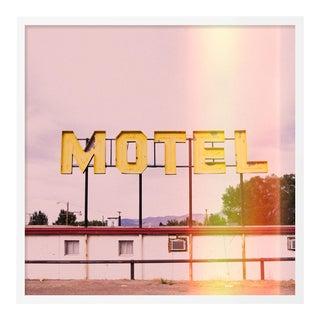 Motel by Christine Flynn in White Framed Paper, Small Art Print For Sale