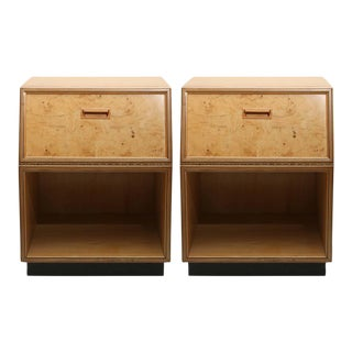 Henredon Burlwood Nightstands, 1970s, Usa For Sale