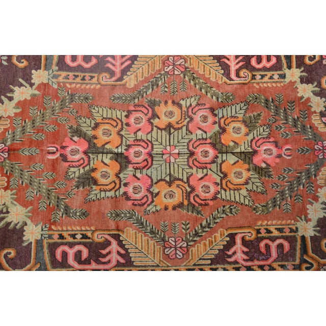"Gorgeous Vintage Khotan Rug 9'4"" X 5'8"" For Sale - Image 4 of 5"