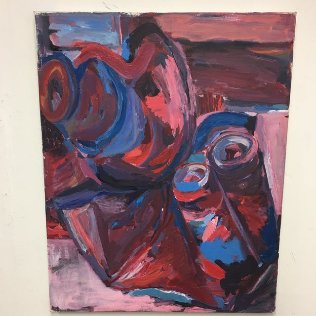 Original Abstract Oil Painting on Canvas - Image 2 of 6