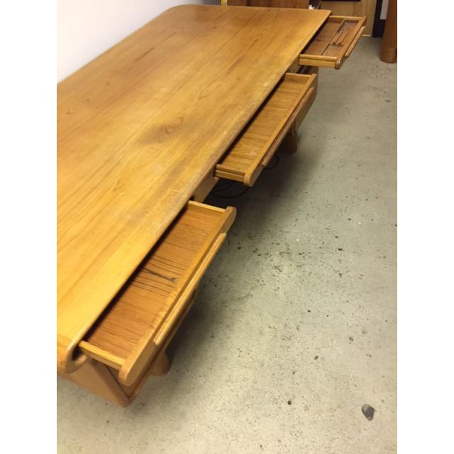 Danish Modern Scan Design Kibaek Mobelfabrik Teak Desk For Sale - Image 3 of 5