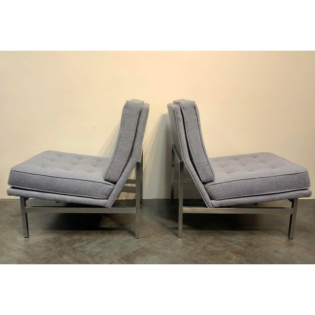 Contemporary Early Florence Knoll Designed Slipper Chairs - a Pair For Sale - Image 3 of 13