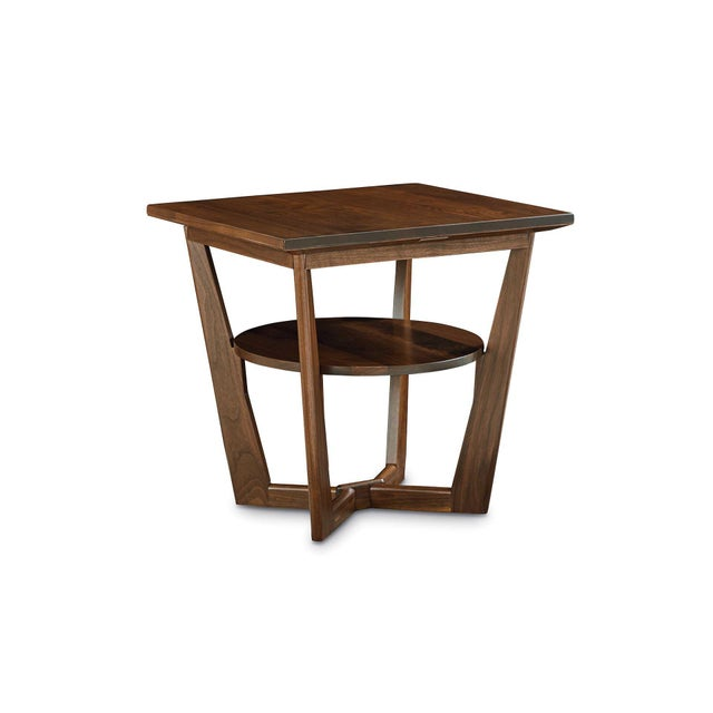 Wood Contemporary Borkholder Walnut Aero End Table For Sale - Image 7 of 7
