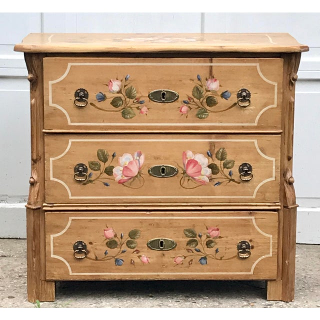 Antique Dutch Folk Decorated Pine Chest For Sale - Image 12 of 12
