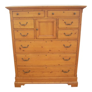 Lexington Furniture 9 Drawer Pine Chest For Sale
