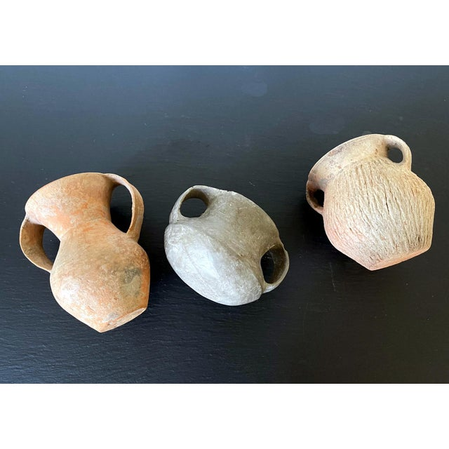 Ceramic Chinese Neolithic Pottery - Set of 3 For Sale - Image 7 of 13