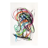 Image of Black and Rainbow Original Painting on Paper For Sale