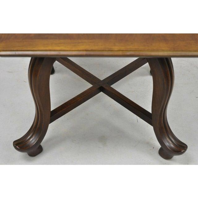 20th Century Hollywood Regency John Widdicomb Walnut Low Side Table For Sale In Philadelphia - Image 6 of 11
