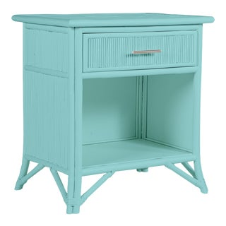 Aruba One-Drawer Nightstand - Turquoise For Sale