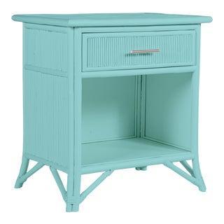 Aruba One-Drawer Nightstand - Turquoise For Sale