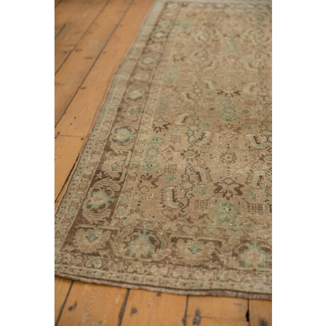 "Vintage Distressed Shiraz Carpet - 5'4"" X 8'3"" For Sale - Image 9 of 12"