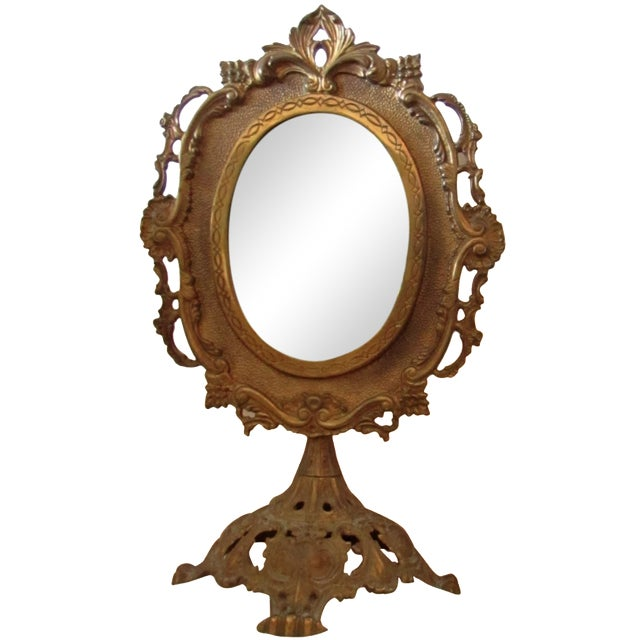 Antique Bronze Frame Swivel Mirror - Image 1 of 5