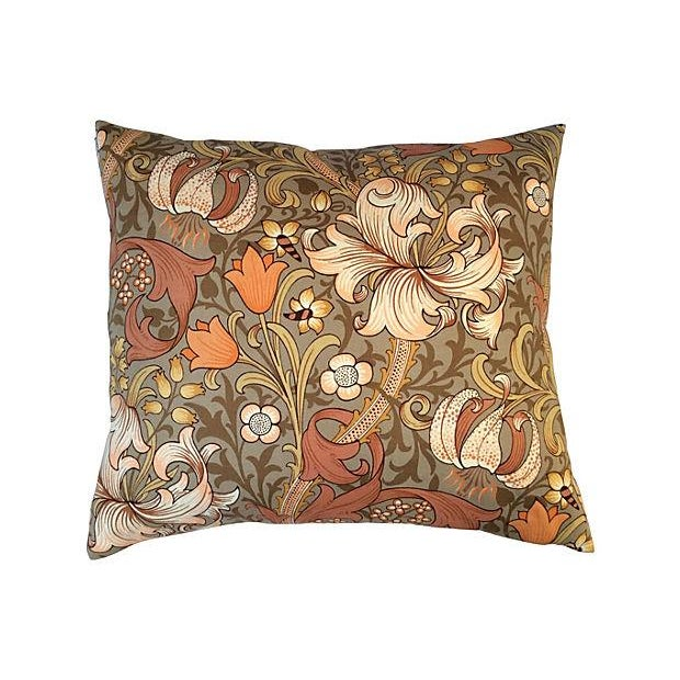 William Morris Golden Lily Floral Pillow - Image 1 of 4