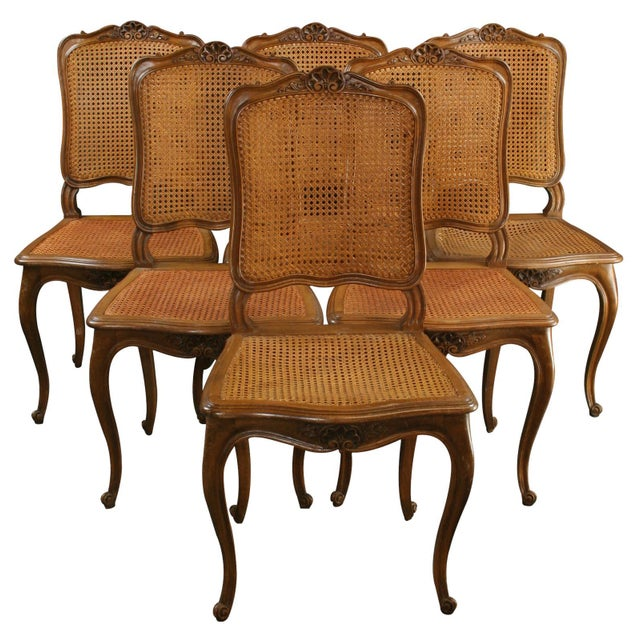Antique French Dining Chairs Louis XV - Set of 6 - Image 1 of 8