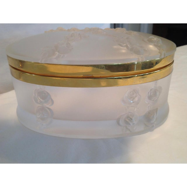 Oval Lalique Hinged Box With Gilt Metal Mounts For Sale - Image 10 of 13