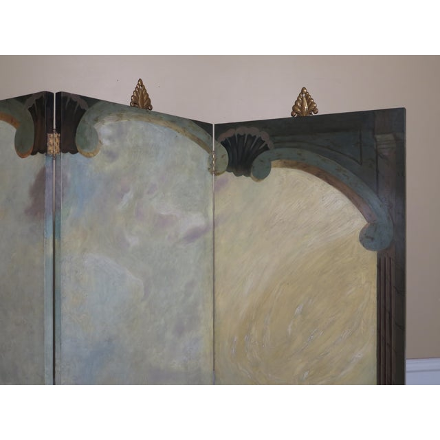 Paint Maitland Smith Large 4 Panel Nautical Room Divider For Sale - Image 7 of 13