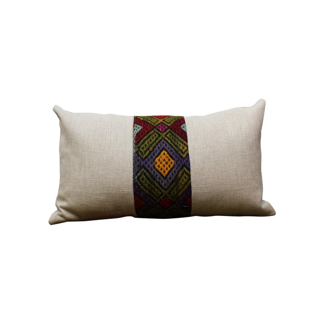 Kilim Band Kidney Pillow For Sale - Image 5 of 5