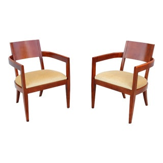 Modern Hickory Business Furniture Hbf Guest or Dining Arm Chairs - a Pair For Sale