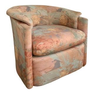1980s Milo Baughman Style Swivel Chair For Sale