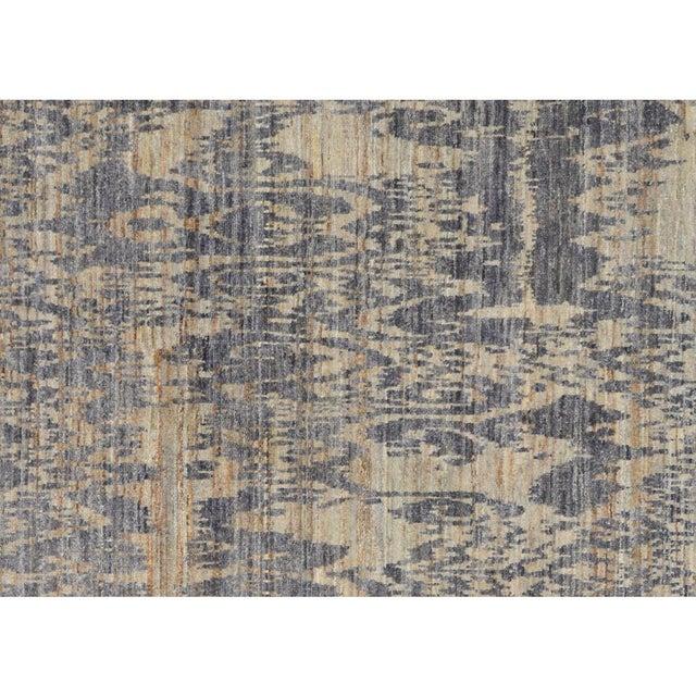 Kafkaz Peshawar Crysta Gray & Blue Wool Rug - 4'1 X 6'3 For Sale - Image 4 of 8