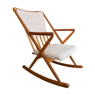 Danish Modern Teak Rocking Chair Benny Linden