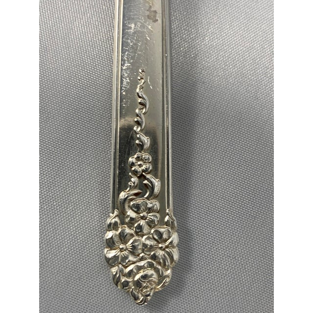 Vintage 1949 King Edward Silverplate Moss Rose Pattern Service for 12 by International Silver - 90 Pieces For Sale - Image 10 of 13