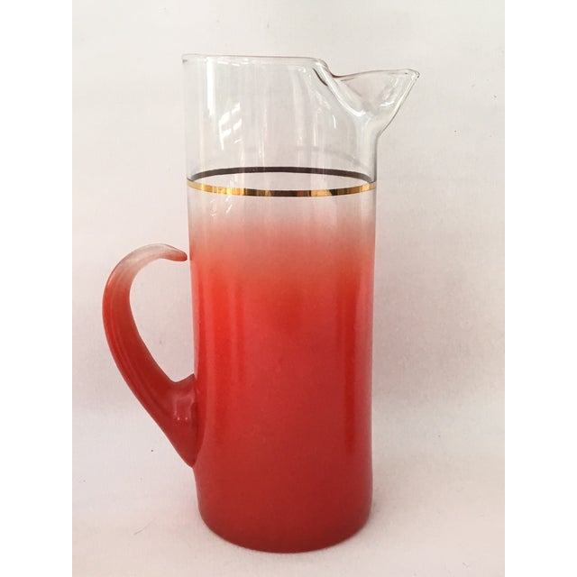 Blendo Glass Pitcher Set With 5 Tom Collins Glasses in Rare Red - Image 6 of 7