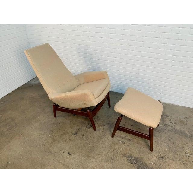 i.b. Kofod-Larsen High Back Lounge Chair Model Pd30 With Ottoman, Circa 1960 For Sale - Image 11 of 13