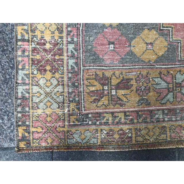Textile 1960s Vintage Nomadic Floral Wool Rug- 3′7″ × 5′7″ For Sale - Image 7 of 11
