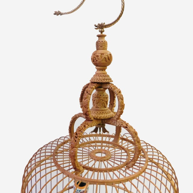 Bamboo Warfield Carving Birdcage - Image 7 of 10