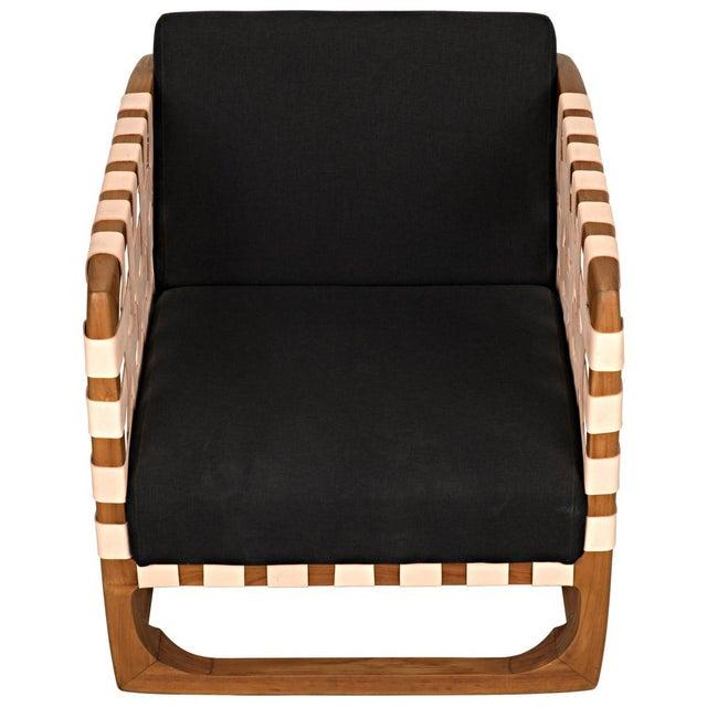 Noir Teak Nebula Chair, Natural For Sale - Image 4 of 9