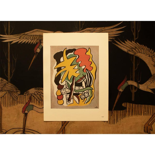 """1940s 1948 Fernand Léger """"Dominoes Composition"""", First Edition Period Parisian Lithograph For Sale - Image 5 of 8"""