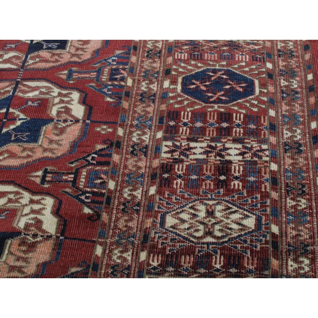 Late 19th Century Antique Tekke Main Carpet For Sale - Image 5 of 10