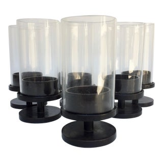 Mid-Century Modern Footed Candle Holders - Set of 6