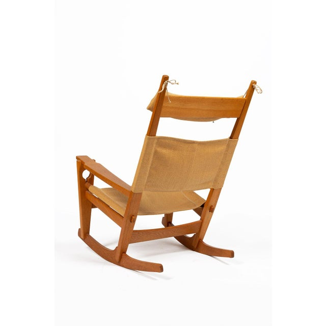 Danish Modern Keyhole Rocking Chair by Hans Wegner For Sale - Image 3 of 13