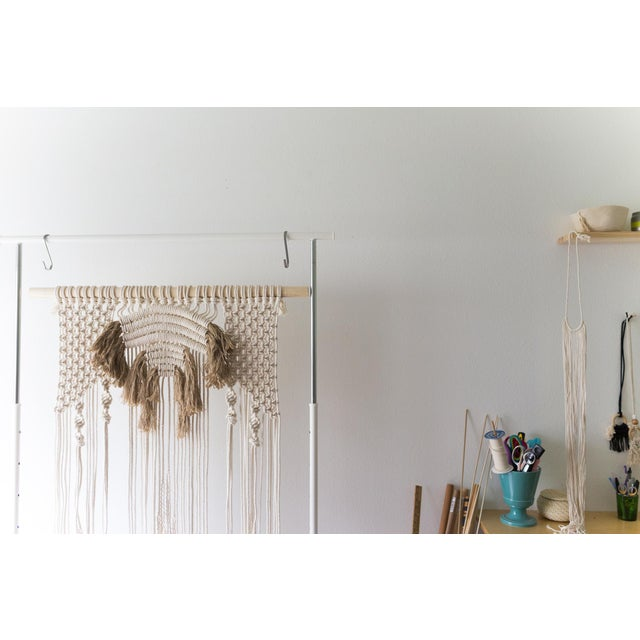 Natural Macrame Wall Hanging - Image 5 of 5