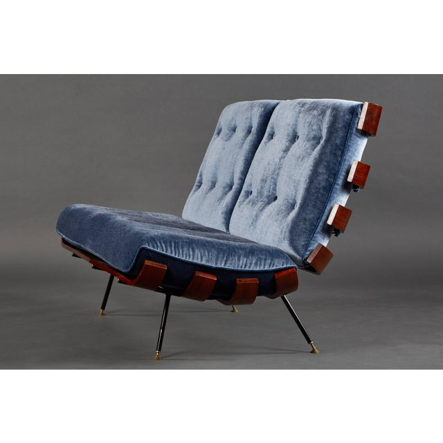 """""""Costela"""" (""""Rib"""") suite by Carlo Hauner and Martin Eisler. Made of Brazilian Sucupira wood with newly upholstered cushions..."""