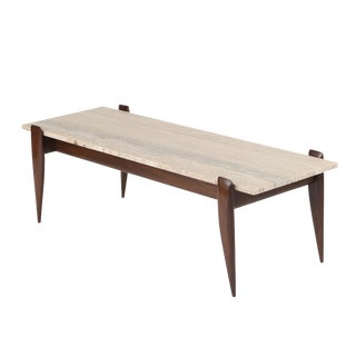 1950's VINTAGE GIO PONTI FOR SINGER & SONS WALNUT COFFEE TABLE For Sale
