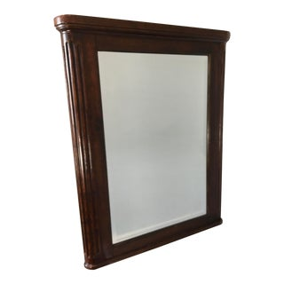 Federal Style Mahogany Beveled Mantle Mirror For Sale